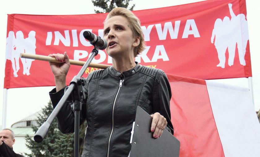 Kompromitacja posłanki Nowoczesnej podczas czarnego protestu