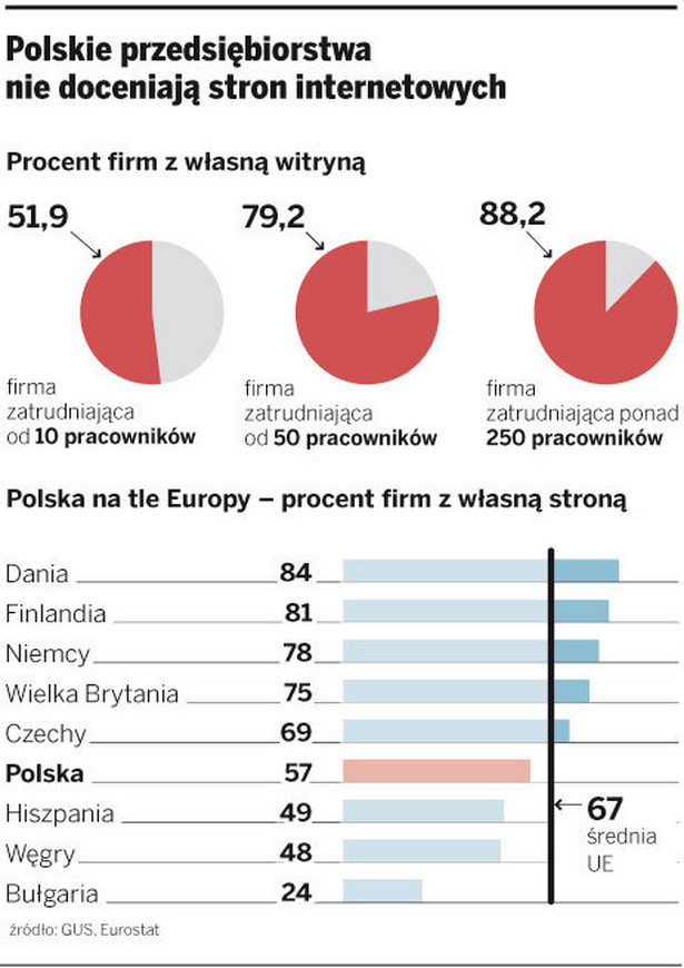 Polskie przedsiębiorstwa nie doceniają stron internetowych