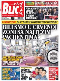 Naslovna 14.8. Blic