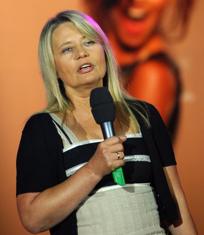Małgorzata Raczyńska podczas konferencji