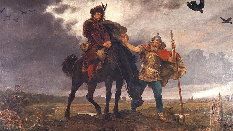Kazimierz Odnowiciel wracający do Polski - fragment obrazu Wojciecha Gersona