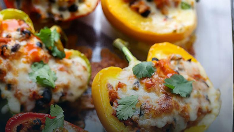 Vegetarian Stuffed-Peppers (Credit- Dietitian Debbie Dishes)