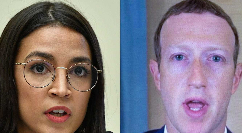 Alexandria Ocasio-Cortez accuses Mark Zuckerberg and Facebook of 'partial responsibility' for the US Capitol insurrection