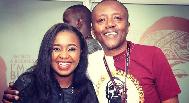Terry Muikamba with Maina Kageni (Instagram)