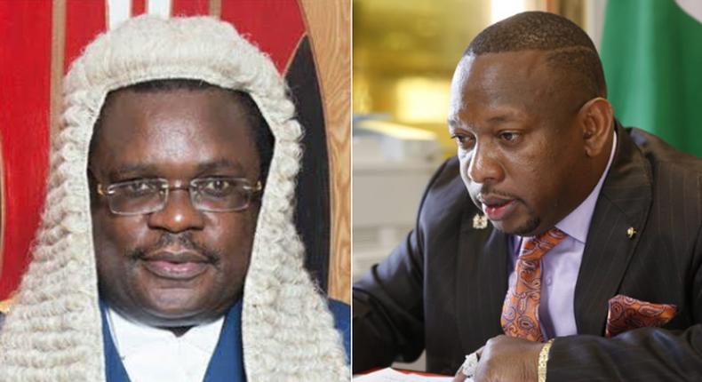 Senate Speaker Ken Lusaka and Governor Mike Sonko