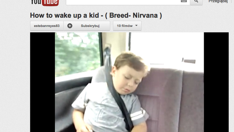 Młody fan Nirvany