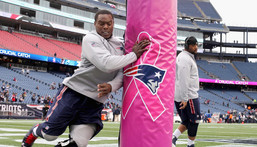 Former NFL Player Dominique Easley is seen here practicing for the New England Patriots.