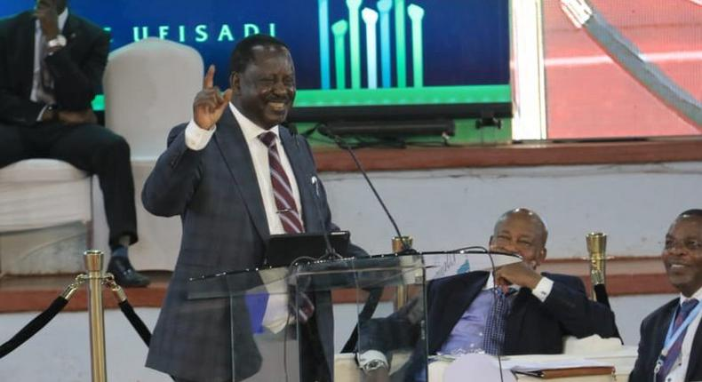 Special AU envoy Raila Odinga during the multi-sectoral National Anti-Corruption Conference (Twitter)