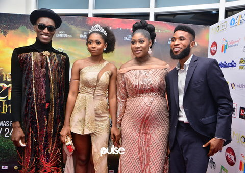 The event, which took place at the Filmhouse Cinemas IMAX, Lekki on Sunday, January 19, 2020, was attended by friends, celebrities and family members of the Nollywood star [PULSE]