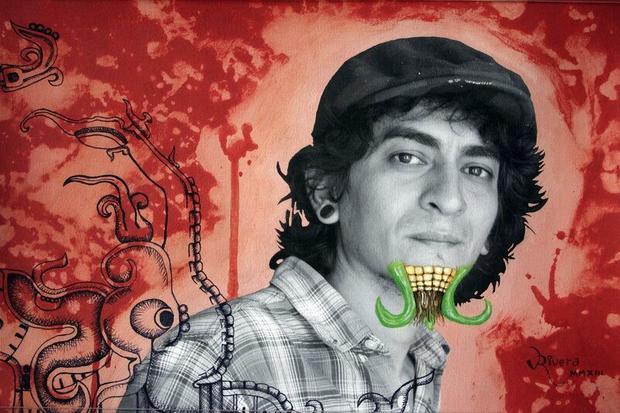 Jeden z autoportretów wchodzących w skład projektu Antonio Nodara