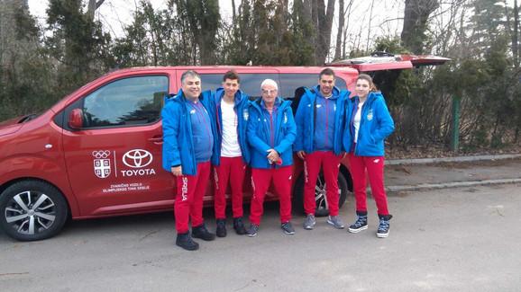 Tim Srbije koji je otputovao za na zimski EYOF