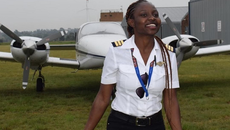 Ghana's youngest female pilot