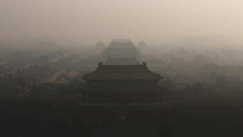 CHINA AIR POLLUTION (Air pollution in Beijing)