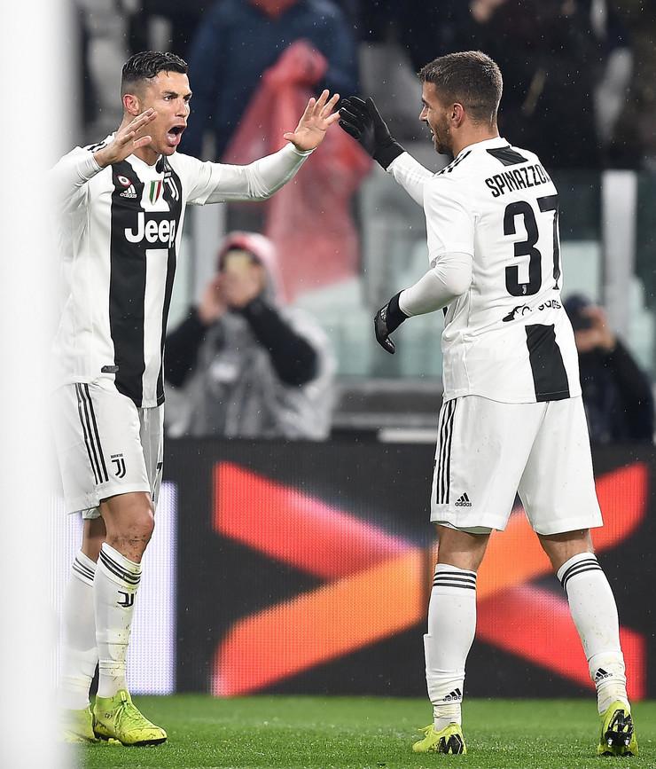 Kristijano Ronaldo i Leonardo Spinacola, FK Juventus