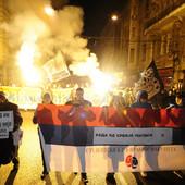 ŠETNJA, BAKLJADA, PA MOLEBAN Skup podrške srpskom narodu u Crnoj Gori (FOTO, VIDEO)
