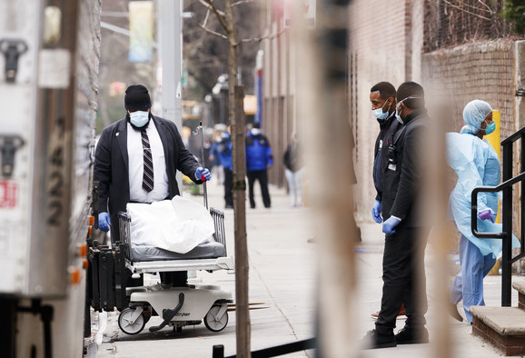 Scena iz Sjedinjenhi Američkih Država usred pandemije novog korona virusa