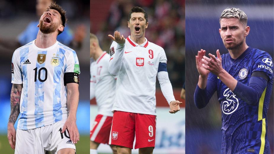 Od lewej: Leo Messi, Robert Lewandowski i Jorginho