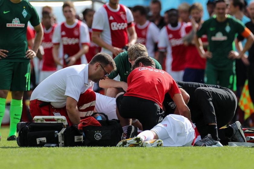 W 2017 roku, w sparingu Ajaksu z Werderem Brema Nouri bez kontaktu z rywalem upadł na murawę.