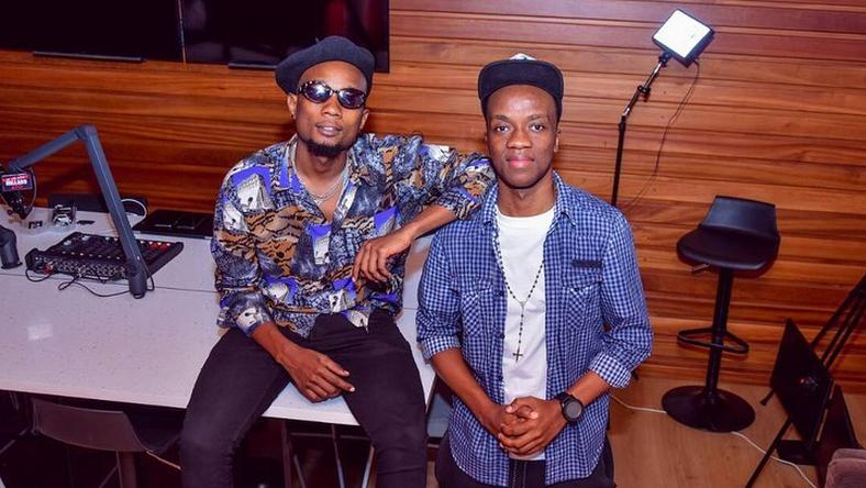 Millard Ayo with Singer Billsnass .Millard Ayo has joined the millionaires club after his YouTube channel hit 1 million subscribers.
