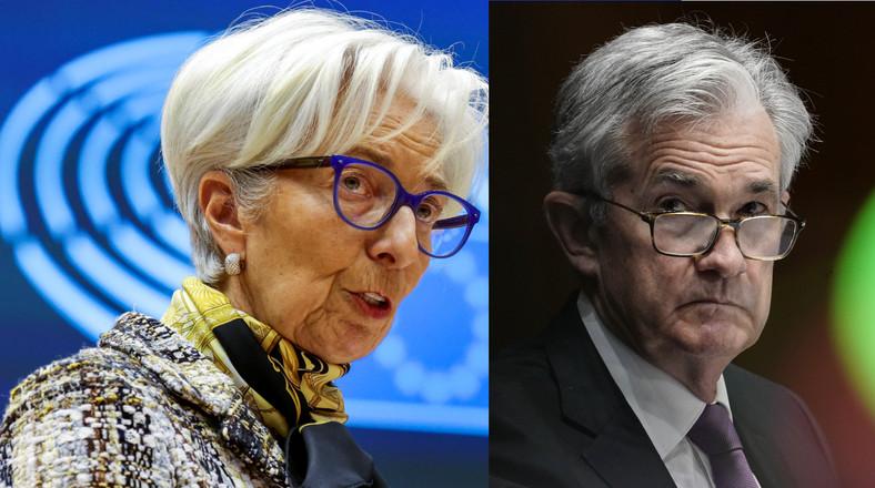 Jerome Powell (P), Christine Lagarde (L)