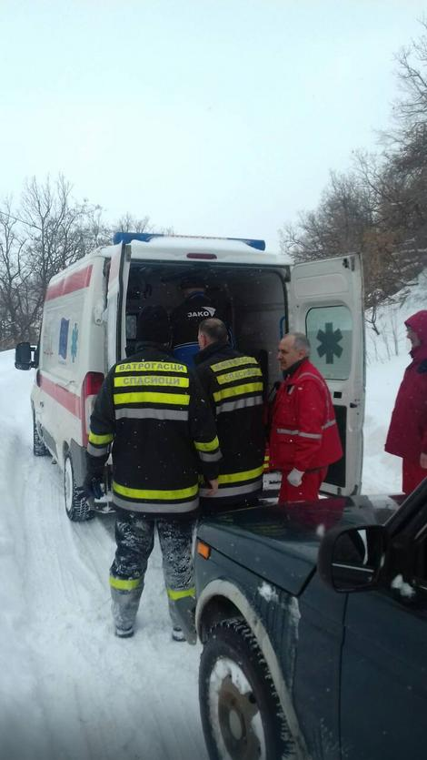 Evakuacija starice iz Gornjana