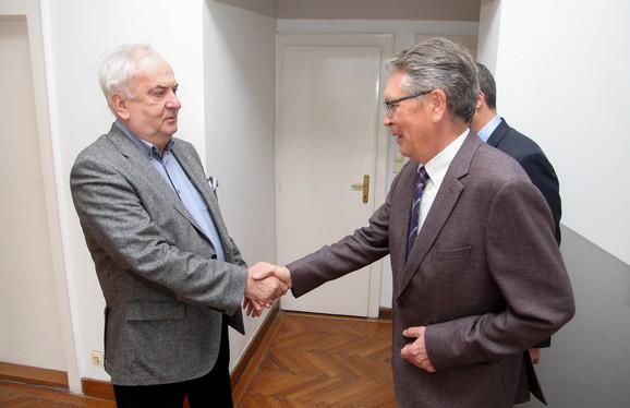 Božidar Maljković primio je u olimpijskoj kući Njegovu ekselenciju ambasadora Ruske federacije u Srbiji Aleksandra Čepurina