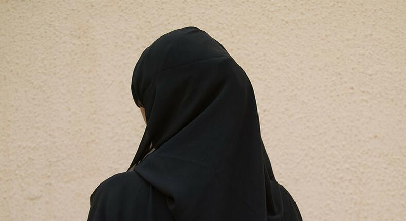 A lady wearing a black hijab (Twitter)
