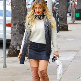 Hilary Duff przyłapana na ulicy. Wokalistka zaprezentowała niezłe nogi