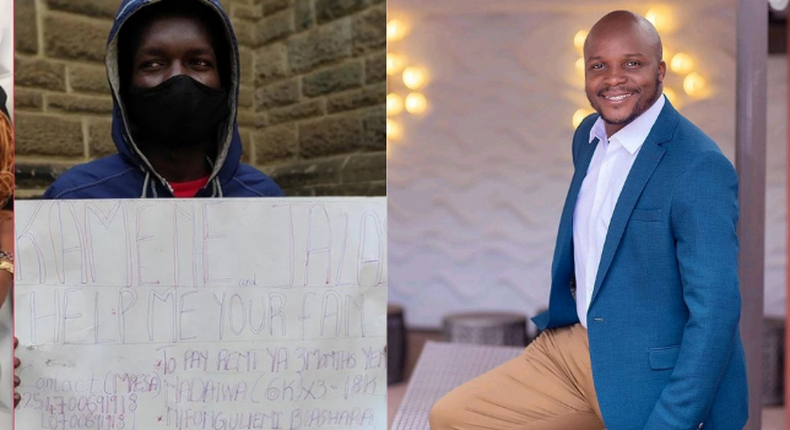 Jalang'o pays three months' rent for Young Man who went public begging for his Help,