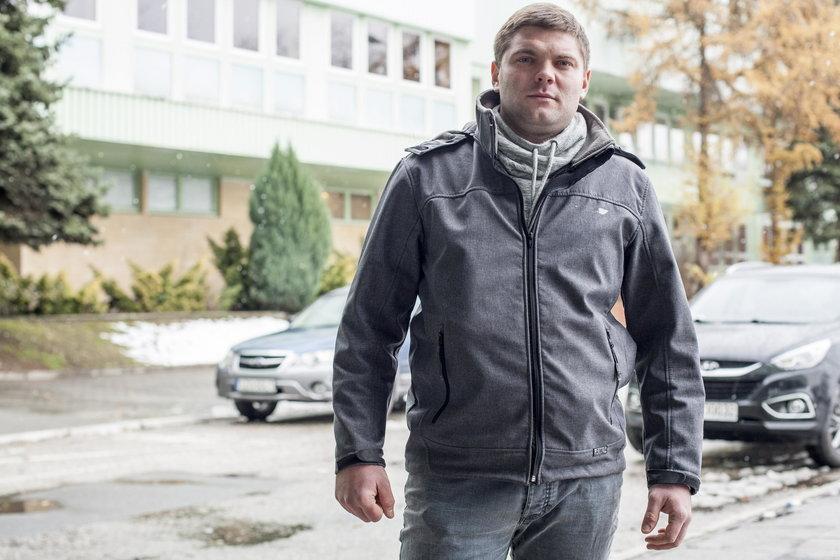Paweł Baron, górnik z KWK Krupiński