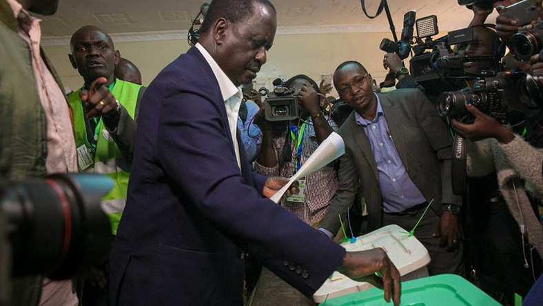 ODM party leader Raila Odinga casting his vote in Kibra during a past election. Edwin Sifuna, Elizabeth Ongoro, Imran Okoth likely to vie for Kibra seat to replace Ken Okoth