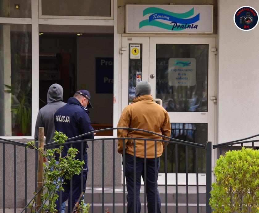Strzały w pralni w Warszawie. Nieoficjalnie: jedna osoba nie żyje