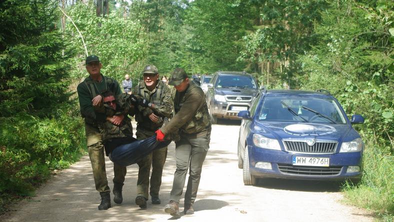 Strażnicy leśni siłą zlikwidowali protest ekologów