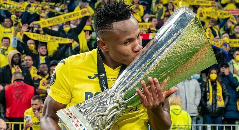 Samuel Chukwueze is a Europa League winner (Instagram/Samuel Chukwueze)