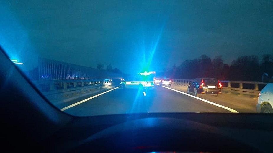 Wypadek na trasie S3 fot. Pomoc Drogowa Fix-Car