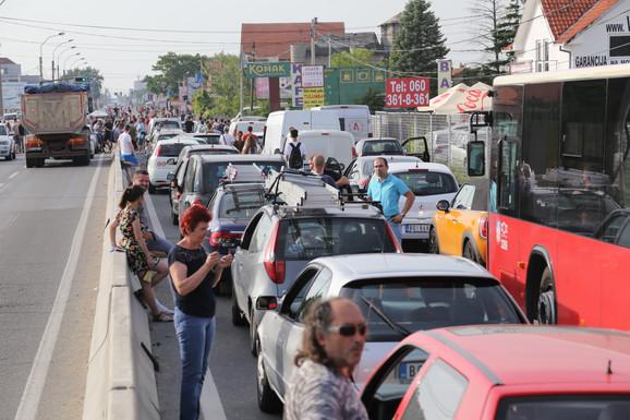 Totalni kolaps na Pančevačkom mostu