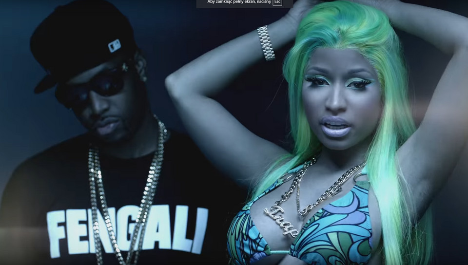 "Nicki Minaj w teledysku ""Beez in the Trap"""
