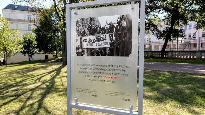 """Tu powstanie pomnik """"Solidaności"""""""