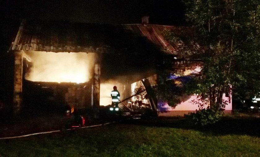 Stary dom pani Małgorzaty spłonął w pożarze