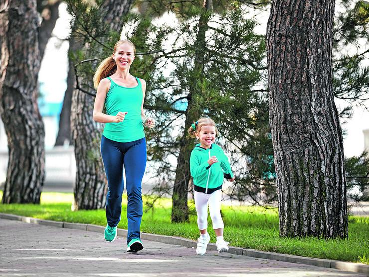 majka i deca, trčanje