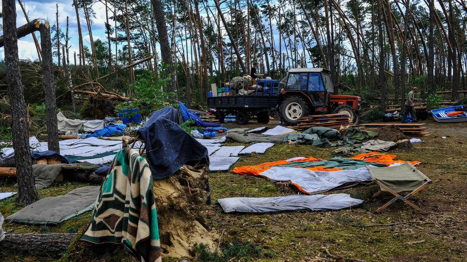 Suszek. Obóz, w którym podczas wichury zginęły dwie harcerki