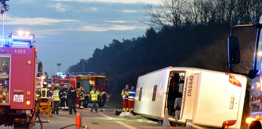Polacy ranni w wypadku autokaru w Niemczech