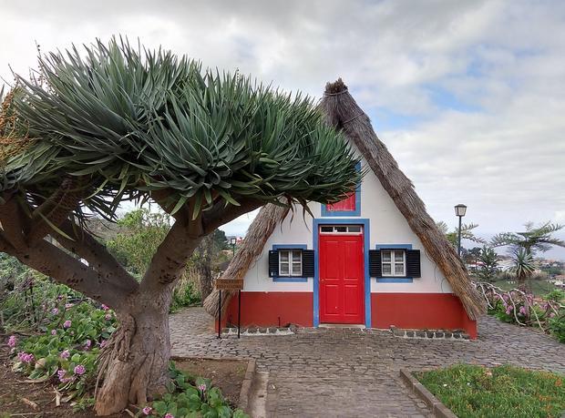 Tradycyjny maderski dom w Santana