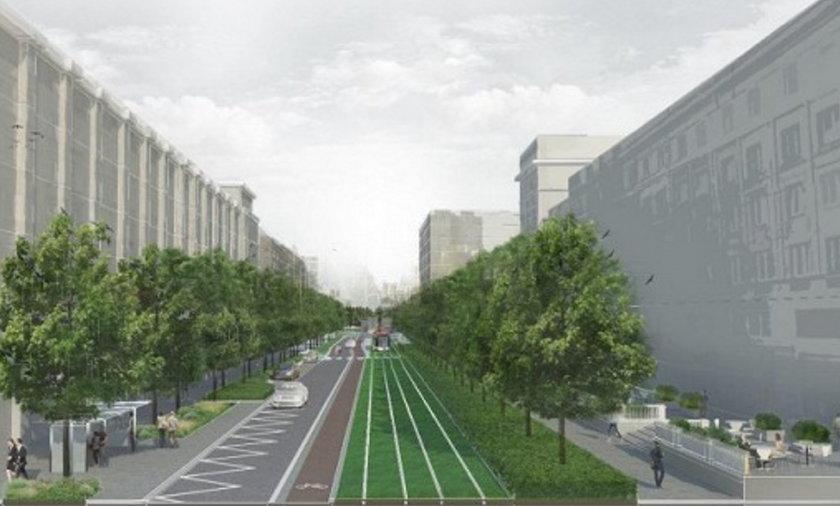Zielona Marszałkowska to projekt powstający w ramach programu Nowe Centrum Warszawy.