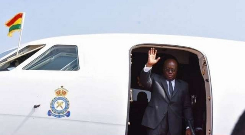 Akufo-Addo departs Accra for UK-Africa Investment Summit