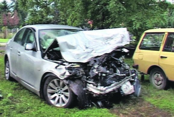 Timotijevićev BMW posle sudara