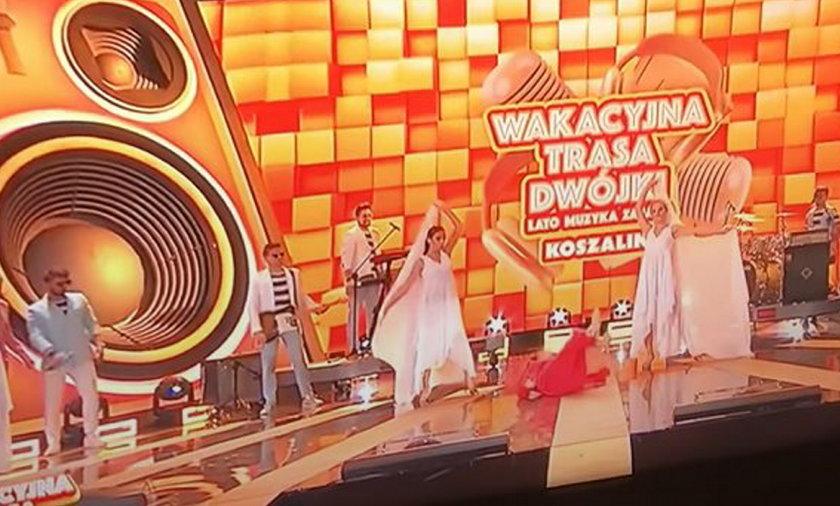 Izabela Trojanowska przewróciła się na scenie. Wyglądało to bardzo groźnie