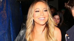 Mariah Carey z biustem na wierzchu świętuje urodziny swego faceta