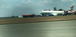 W samolocie urwało się podwozie. Zobacz film