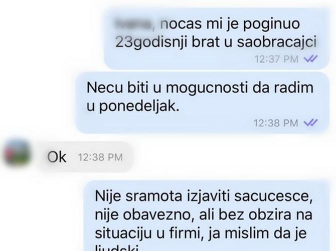 Poslala je šefici ovu poruku, a o odgovoru koji je usledio BRUJI CELA SRBIJA
